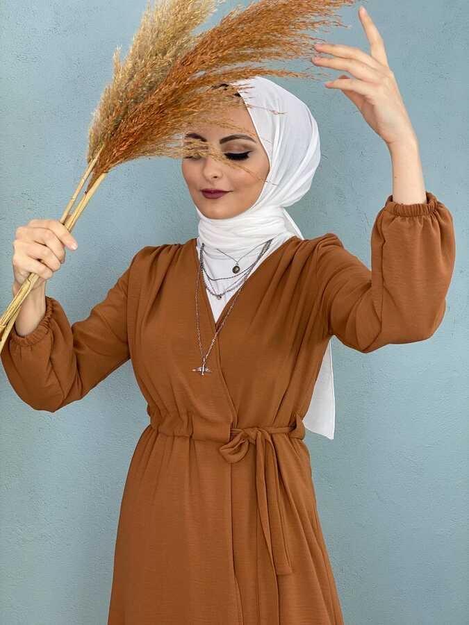 Cape Hijab Avec Taille à Lacets Taba