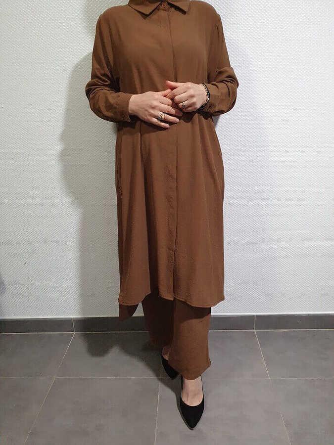 Helen Hijab Zweiteiler Camel