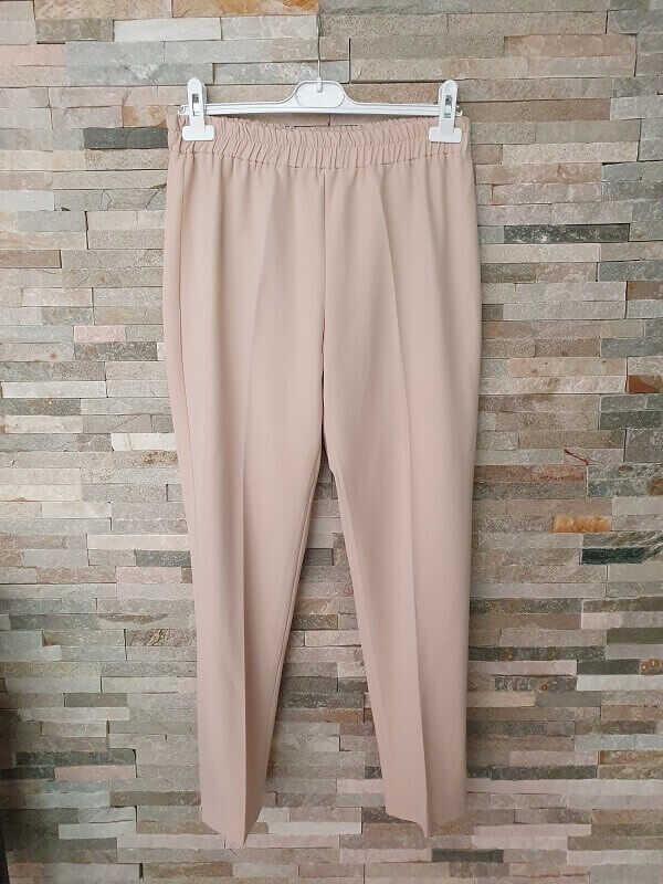 Pantalon Carotte Taille Elastique Créme