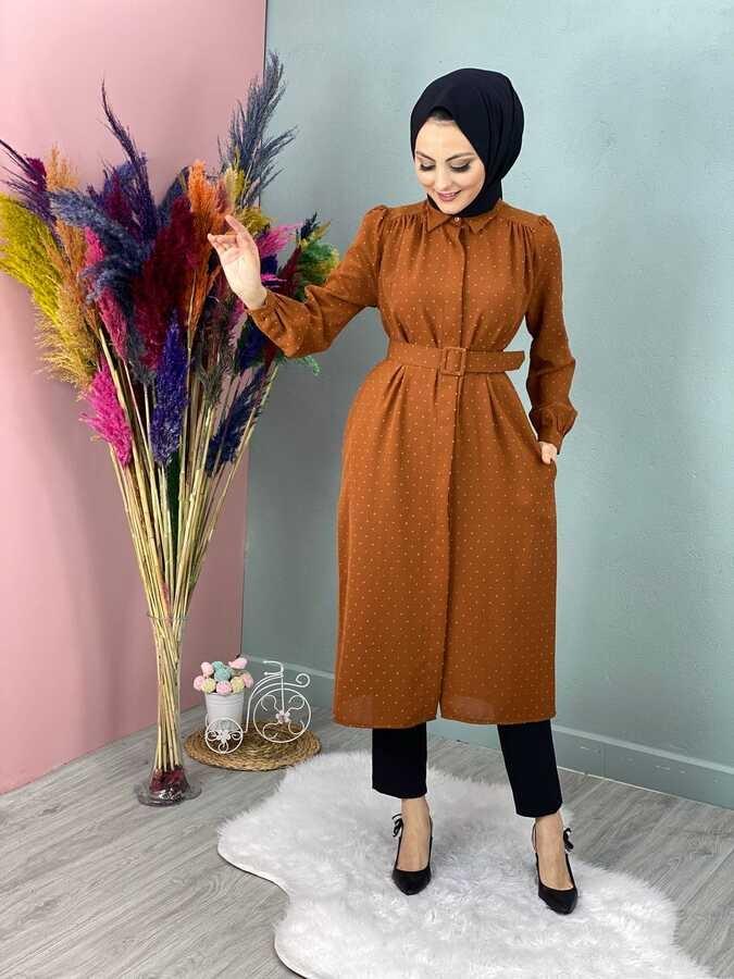 Pompon Hijab Tunika Jacke Fliese