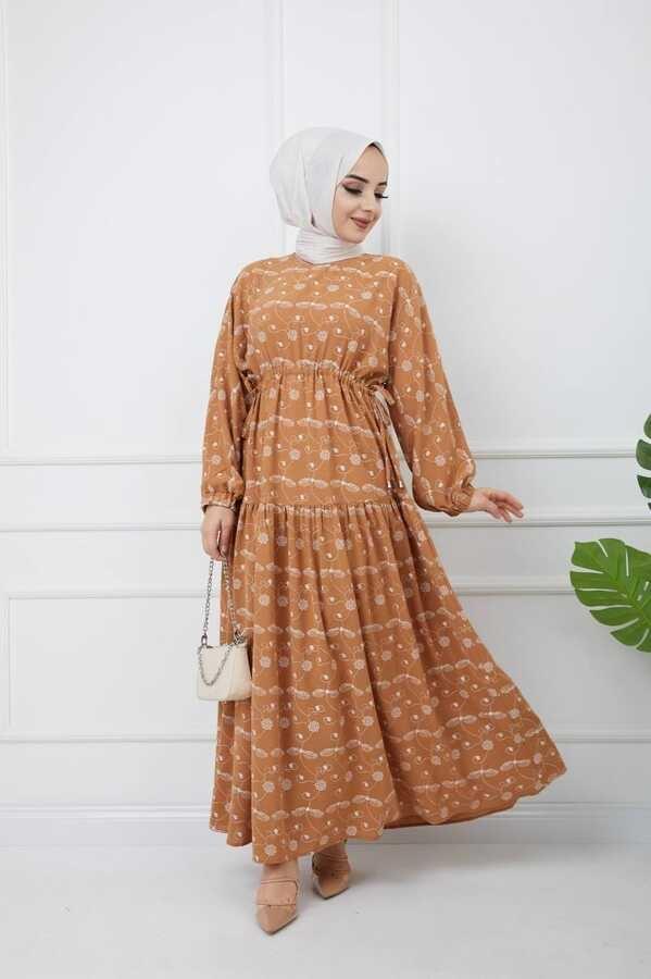 Robe Hijab İmprimée Tuile