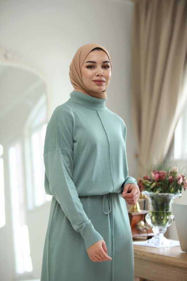 Seil Gürtel Hijab Kleid Indigo