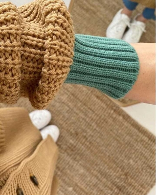Strickwaren Strickjacke Camel - Thumbnail