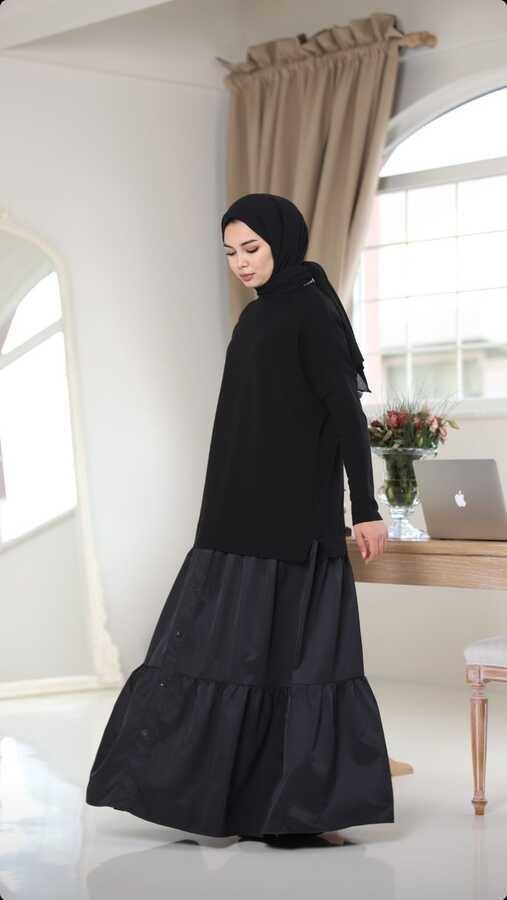 Sweatshirt Elbise Siyah